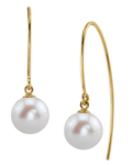 Freshwater Pearl Bonnie Earrings - Model Image