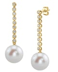 Freshwater Pearl & Diamond Serena Earrings - Third Image