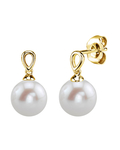 Freshwater Pearl Sherry Earrings - Model Image