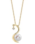 Freshwater Pearl & Diamond Ellis Pendant - Model Image