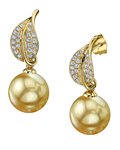 Golden Pearl & Diamond Eva Earrings