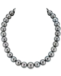 12-14mm Green Tahitian South Sea Pearl Necklace - AAAA Quality