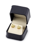 10mm Golden South Sea Pearl Stud Earrings- Choose Your Quality - Secondary Image