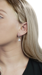 Japanese Akoya Pearl Mary Earrings - Model Image