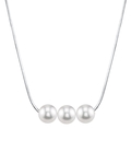 Pearl Moments - 7mm Freshwater Pearl Chain Necklace - Model Image