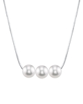 Pearl Moments - 8mm Freshwater Pearl Chain Necklace - Model Image