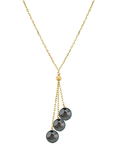 14K Gold Tahitian Pearl Tincup Cluster Pendant - Secondary Image