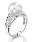 South Sea Pearl & Diamond Alexa Ring