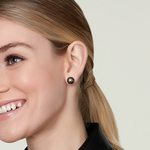 10mm Tahitian South Sea Pearl Stud Earrings- Various Colors - Model Image