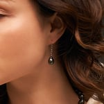 Tahitian South Sea Baroque Pearl Dangling Tincup Earrings - Model Image