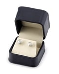 9.0-9.5mm White Akoya Pearl Stud Earrings - Fourth Image