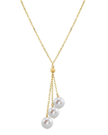 14K Gold Freshwater Pearl Tincup Cluster Pendant - Secondary Image