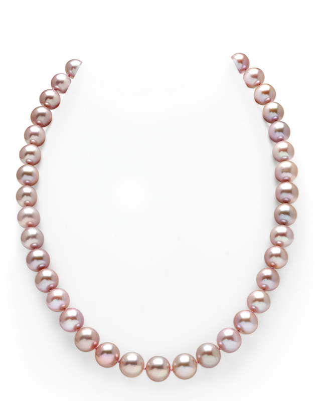 10-11mm Pink Freshwater Pearl Necklace - AAA Quality