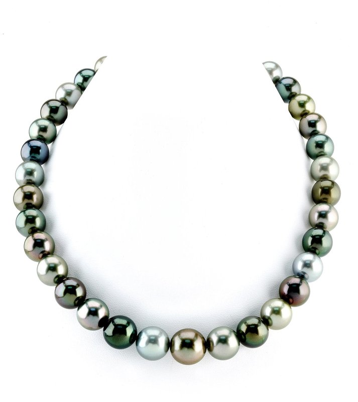 11-14mm Tahitian South Sea Pearl Multicolor Necklace - AAAA Quality
