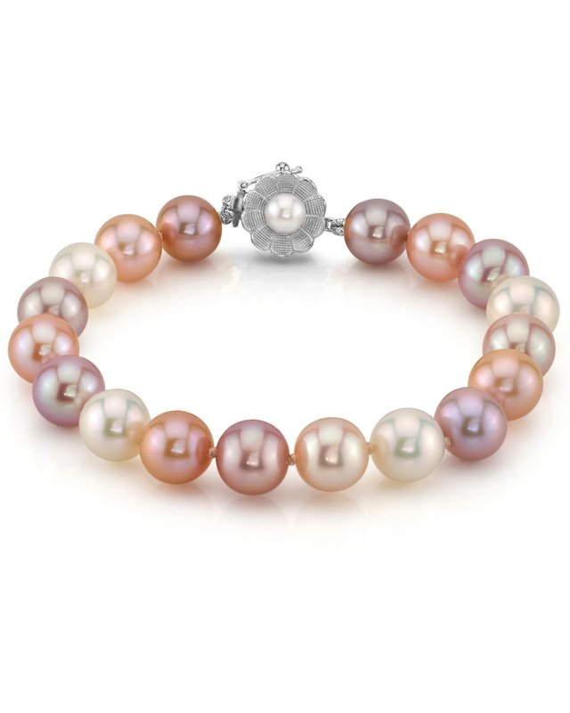 9-10mm Multicolor Freshwater Pearl Bracelet - AAAA Quality