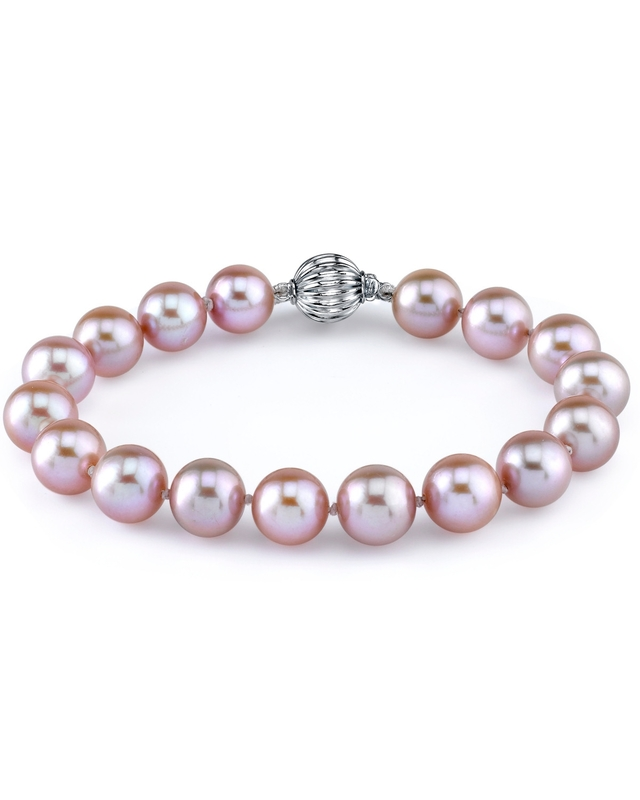 9-10mm Pink Freshwater Pearl Bracelet - AAAA Quality