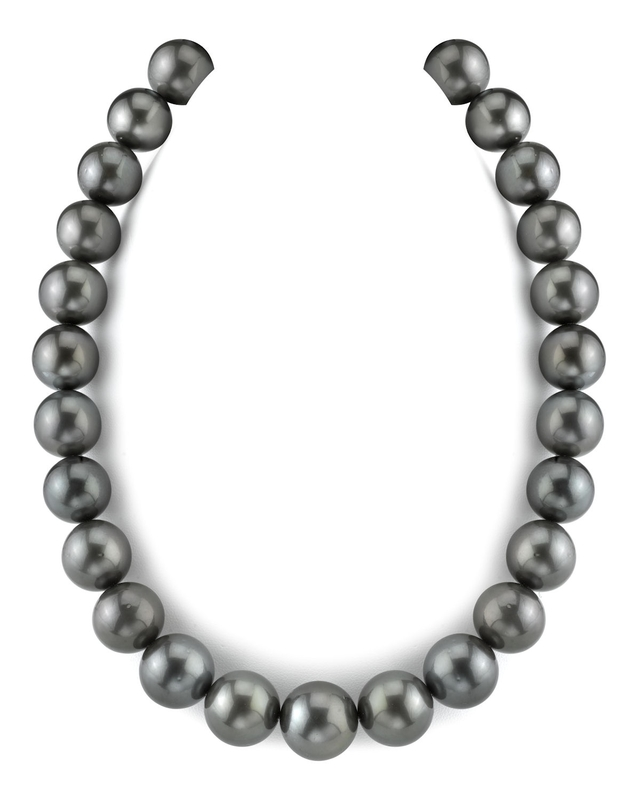 15-17.9mm Black Tahitian South Sea Pearl Necklace-AAA Quality
