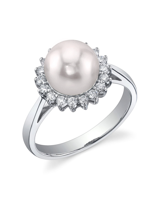 Akoya Pearl & Diamond Solar Ring