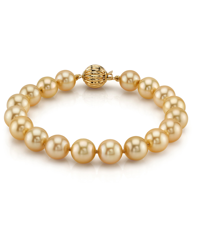 8-9mm Golden South Sea Pearl Bracelet