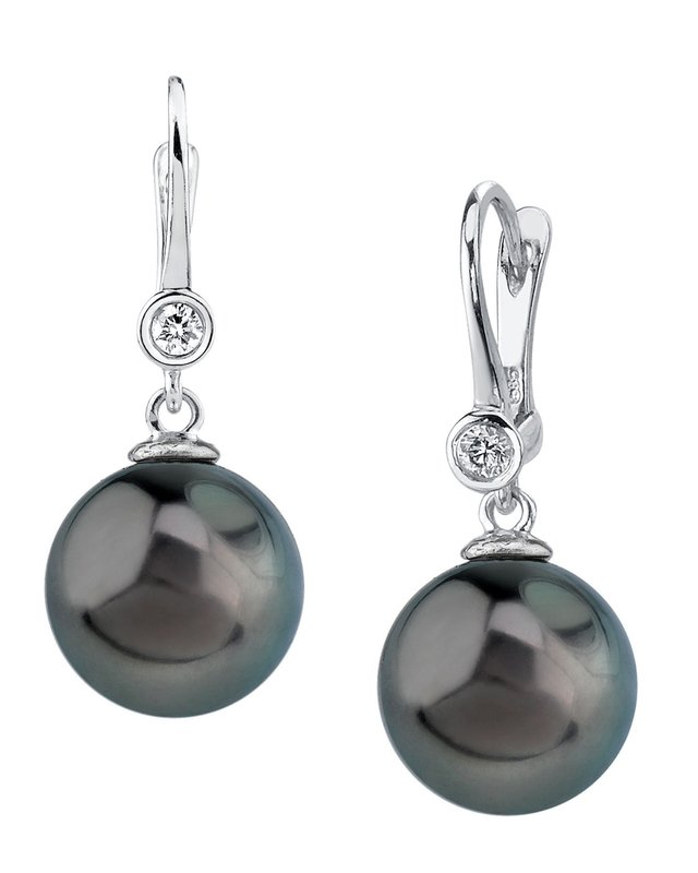 Tahitian South Sea Pearl & Diamond Michelle Earrings