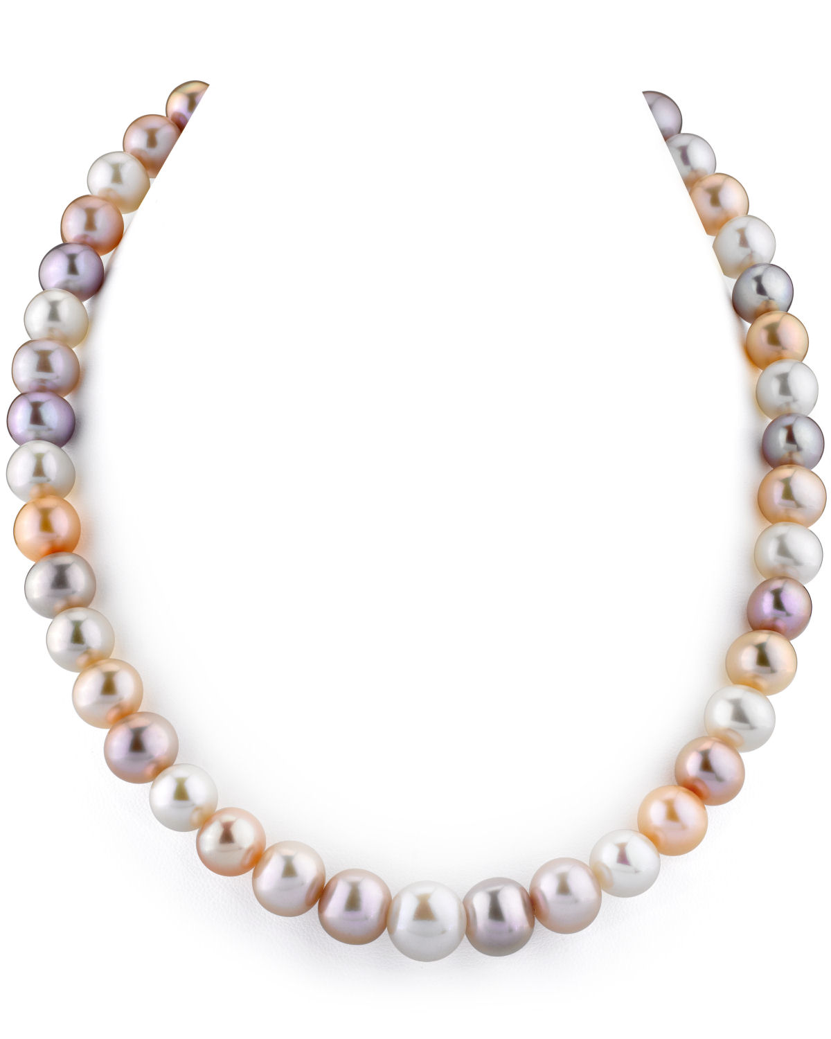 10-11mm Multicolor Freshwater Pearl Necklace