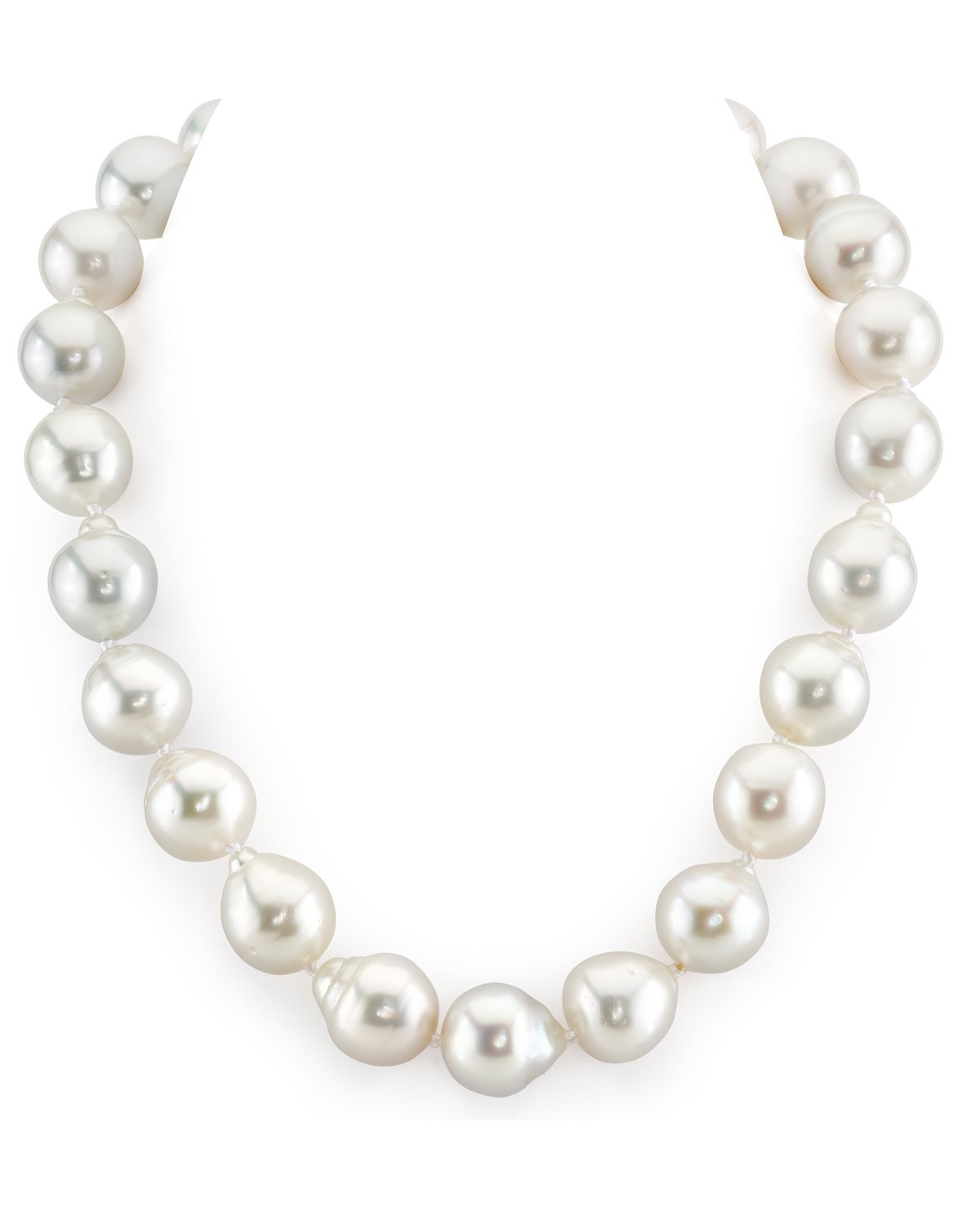 15-16mm White South Sea Baroque Pearl Necklace