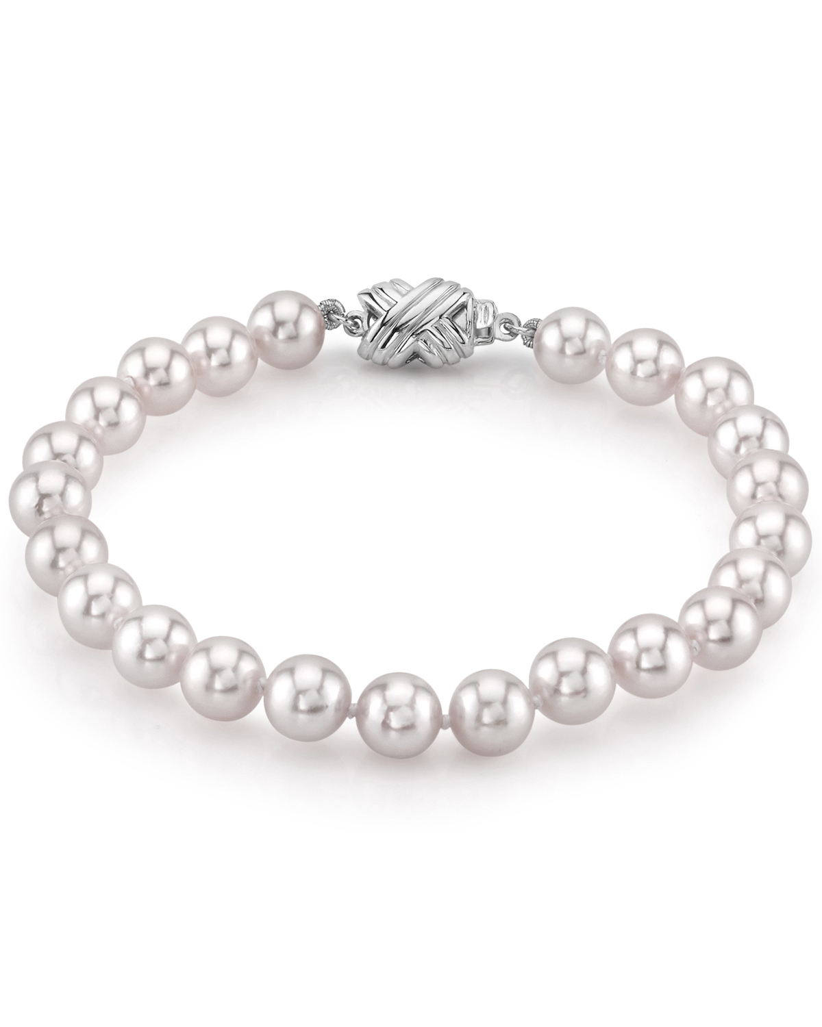 6.5-7.0mm Akoya White Pearl Bracelet- Choose Your Quality
