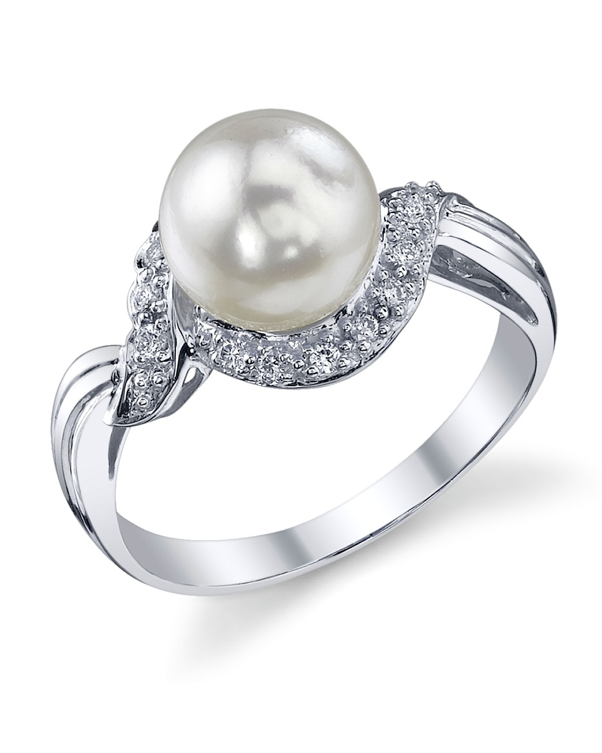 Akoya Pearl & Diamond Shira Ring