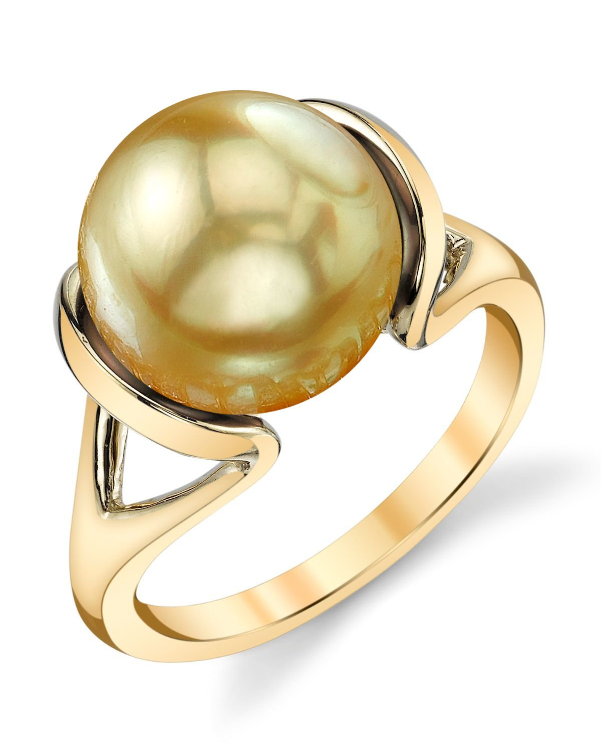 Golden South Sea Pearl Hanna Ring
