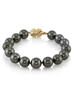 10-11mm Tahitian South Sea Pearl Bracelet - AAAA Quality - Third Image