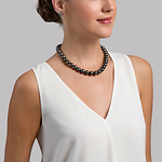 11-13mm Tahitian South Sea Pearl Necklace - AAAA Quality - Model Image
