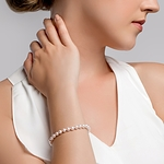 5.5-6.0mm Akoya White Pearl Bracelet - Choose Your Quality - Secondary Image