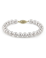 5.5-6.0mm Akoya White Pearl Bracelet - Choose Your Quality - Third Image