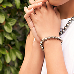 10-11mm Tahitian South Sea Pearl Bracelet - AAAA Quality - Model Image