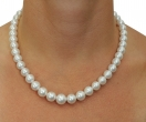 9-11mm White South Sea Pearl Necklace - Secondary Image