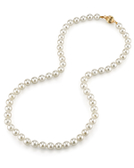 6.5-7.0mm Japanese Akoya White Choker Length Pearl Necklace- AA+ Quality - Secondary Image