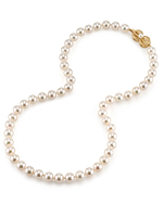 7.5-8.0mm Japanese Akoya White Pearl Necklace- AAA Quality - Third Image