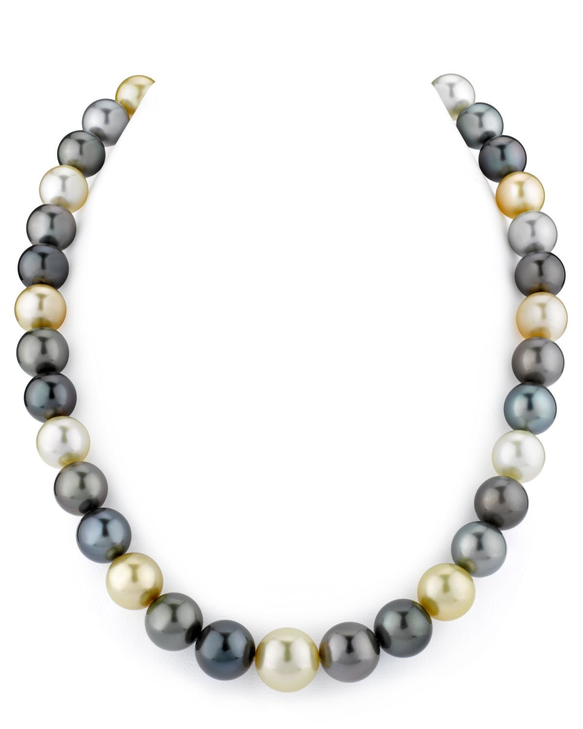 10-12mm South Sea Multicolor Pearl Necklace - AAAA Quality
