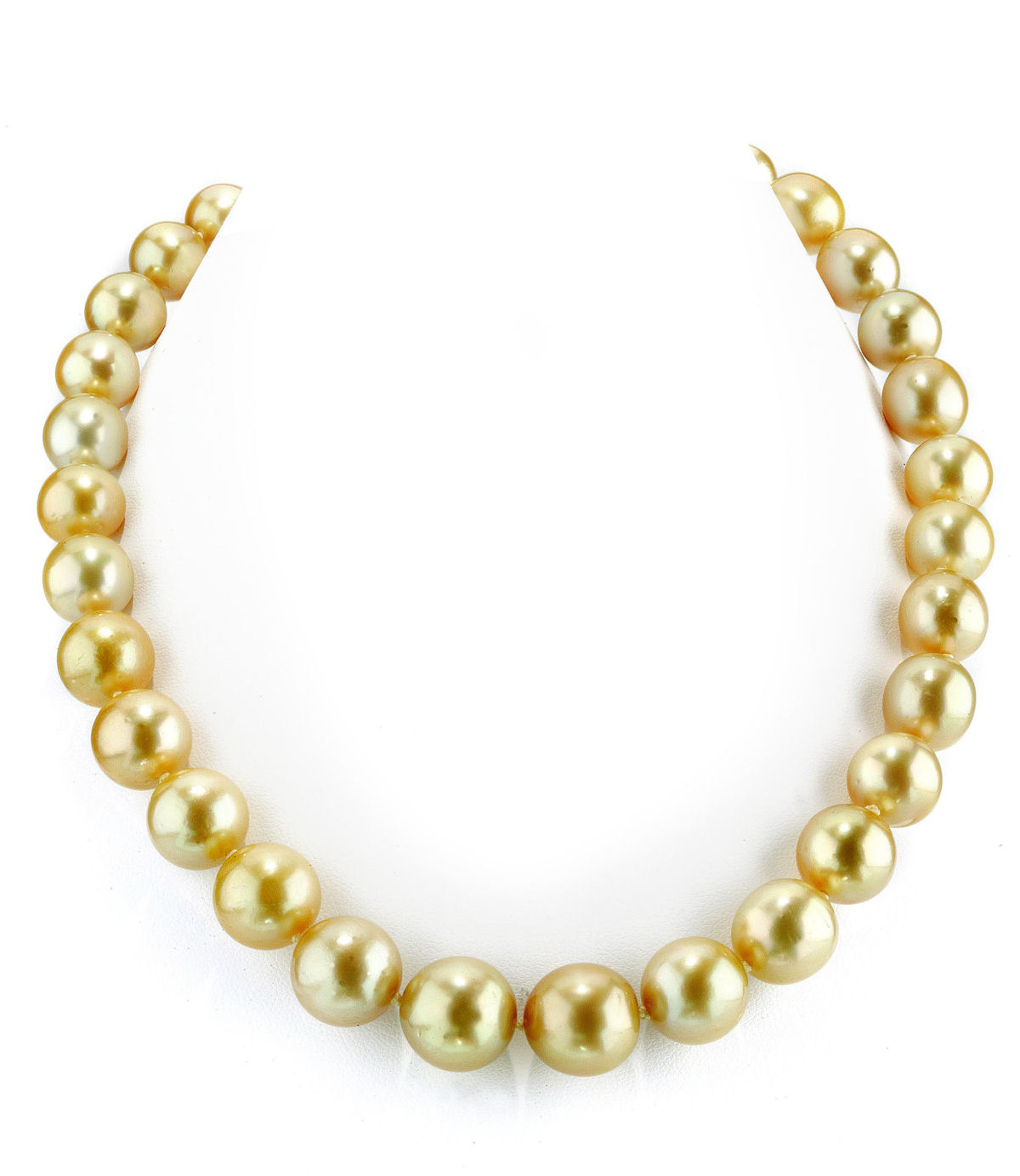 11-13mm Golden South Sea Pearl Necklace