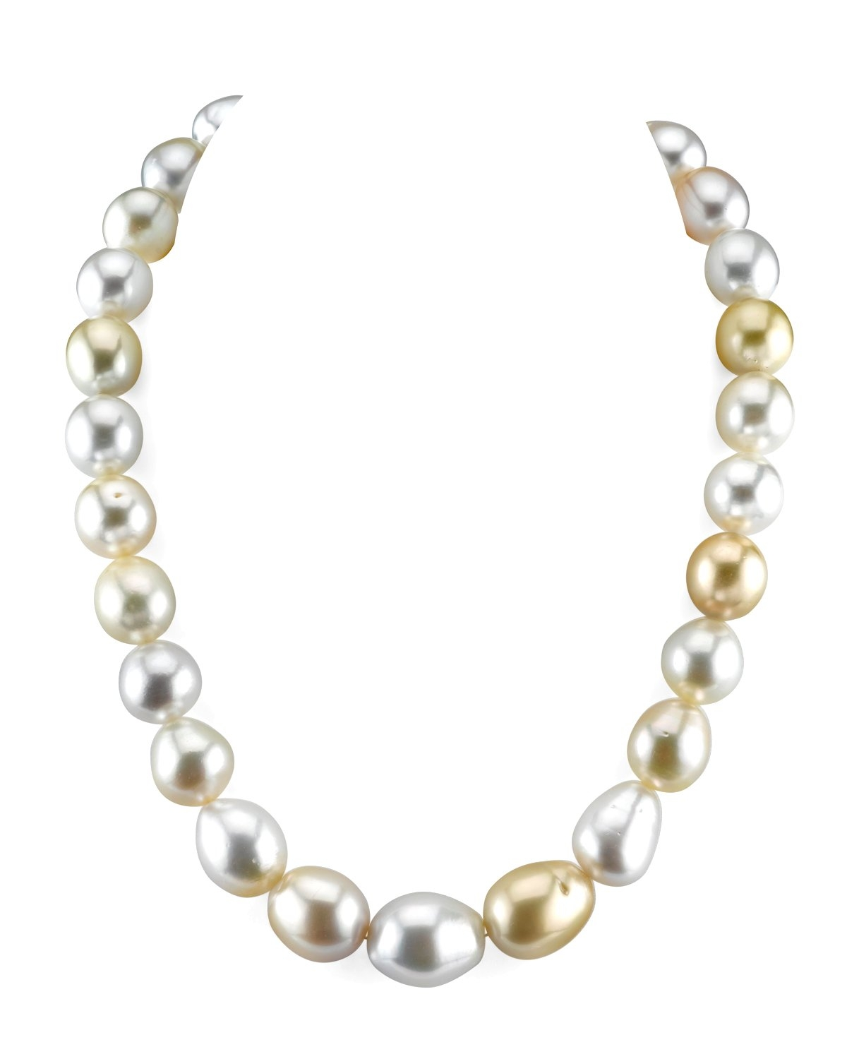 13-16mm South Sea Multicolor Baroque Pearl Necklace