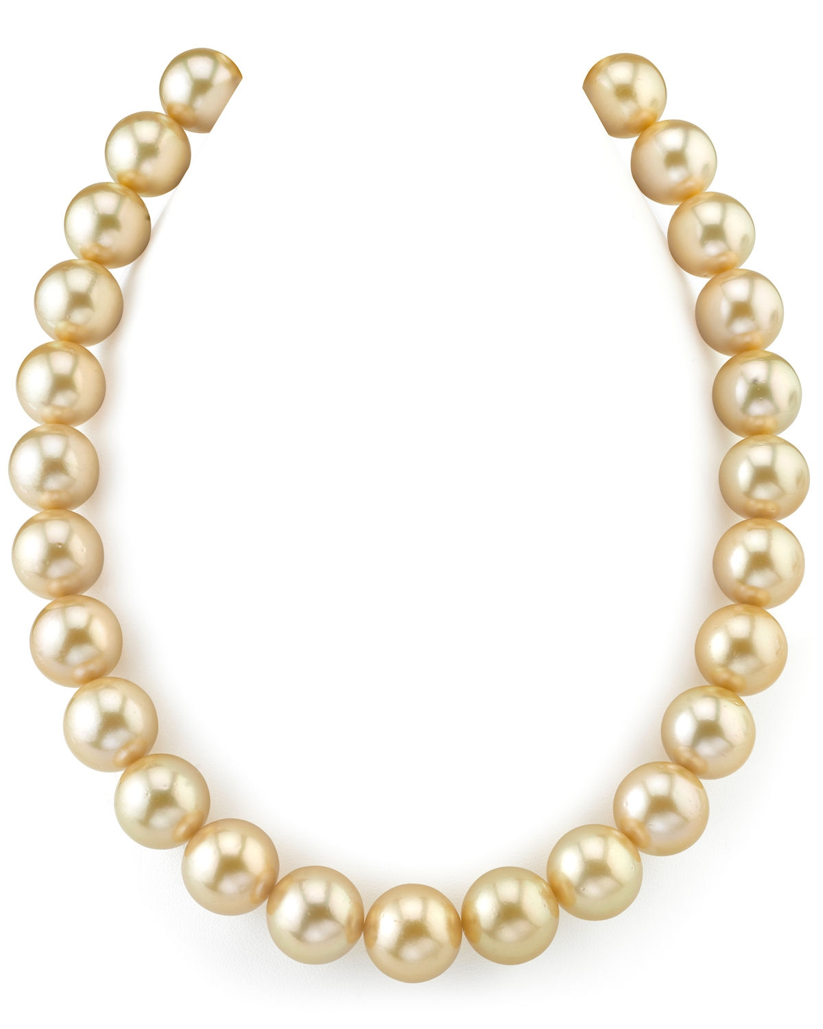 15-17mm Golden South Sea Pearl Necklace - AAAA Quality