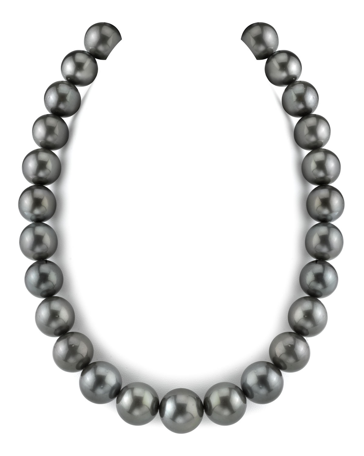 15-17.9mm Black Tahitian South Sea Pearl Necklace-AAAA Quality