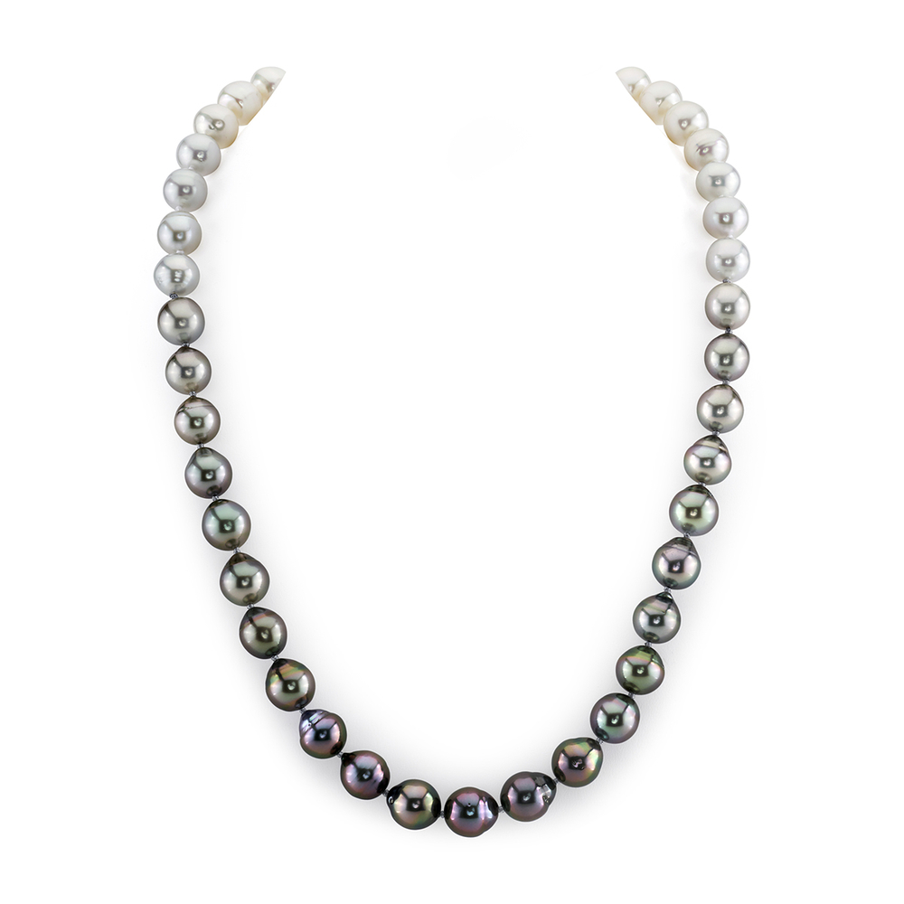 9-10mm Graduated Color Tahitian Baroque Pearl Necklace