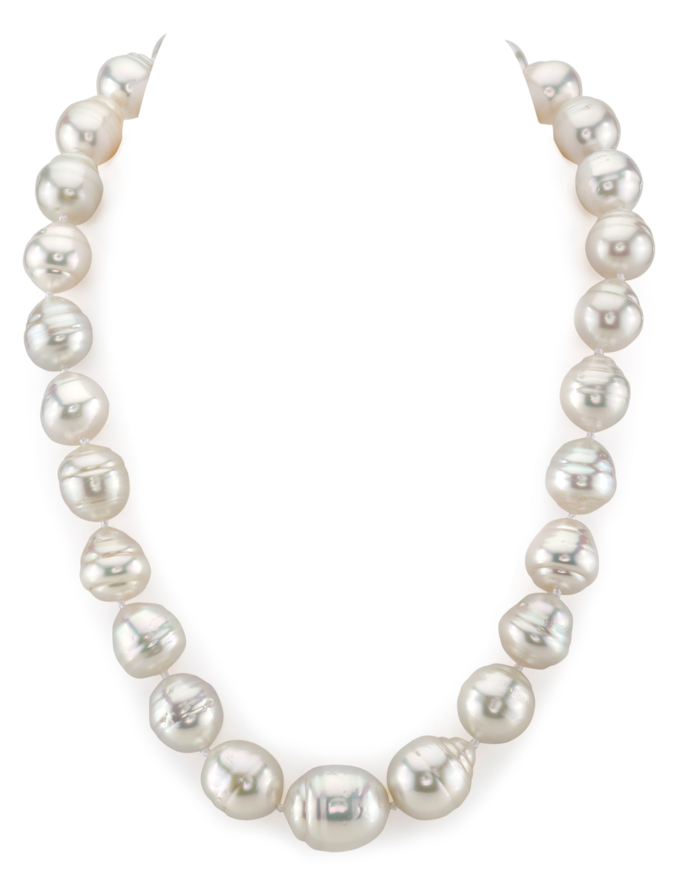 13-17mm White South Sea Baroque Pearl Necklace