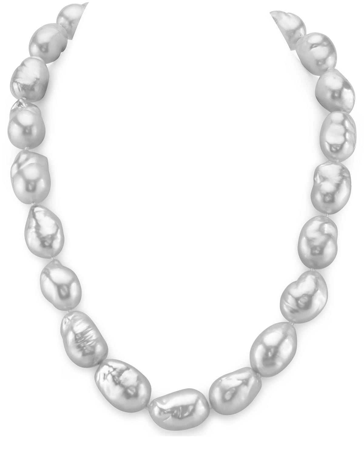14-15mm White South Sea Baroque Pearl Necklace