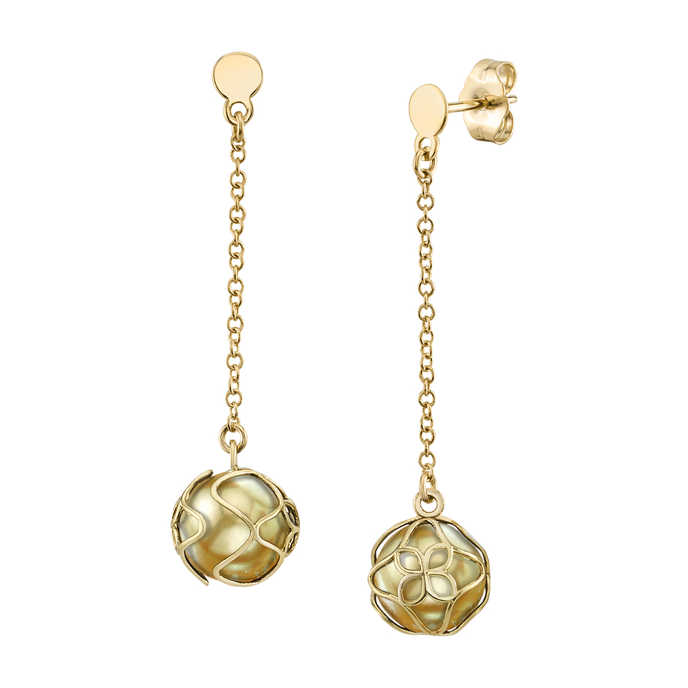 Golden South Sea Pearl Cora Earrings
