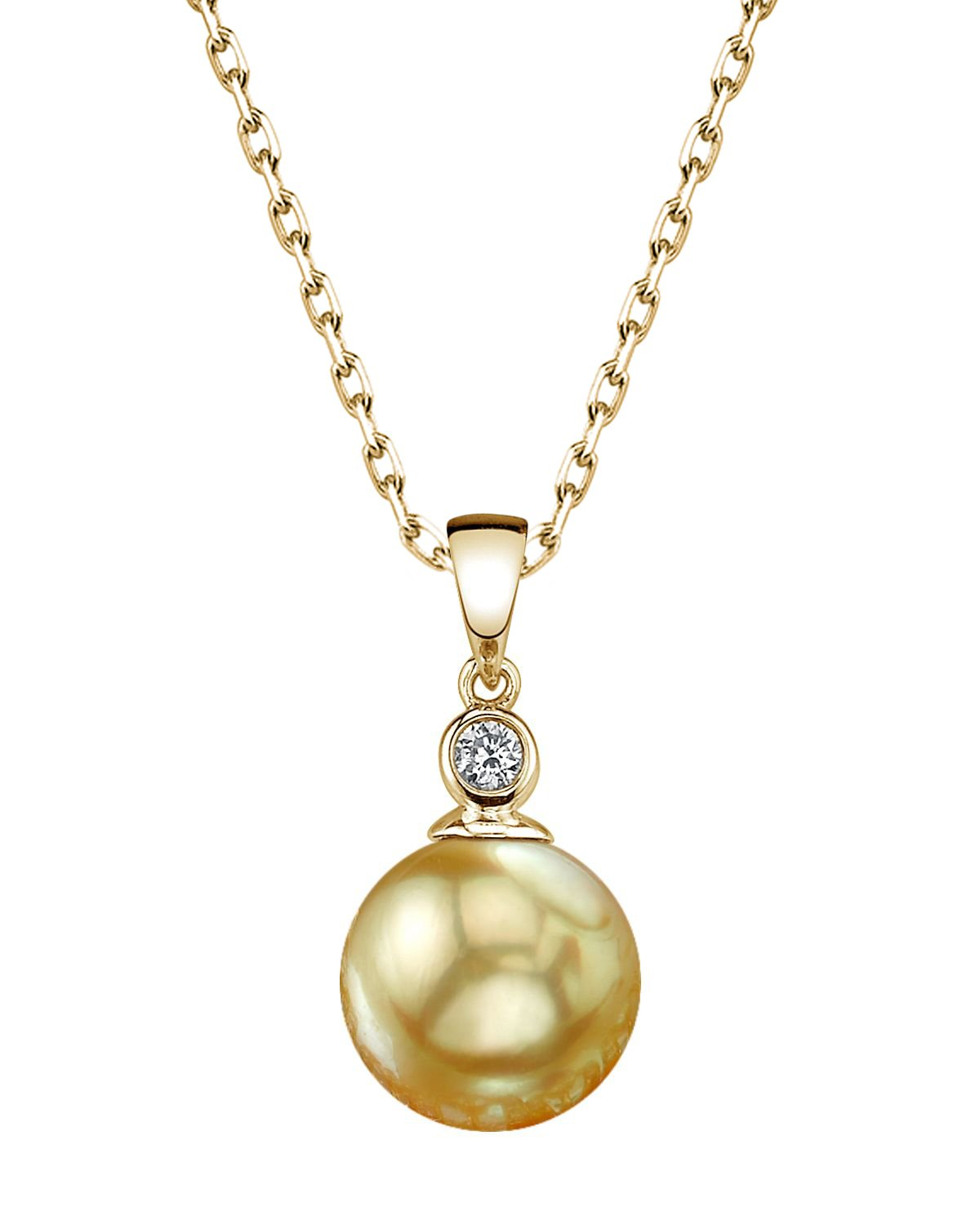 Golden Pearl & Diamond Michelle Pendant